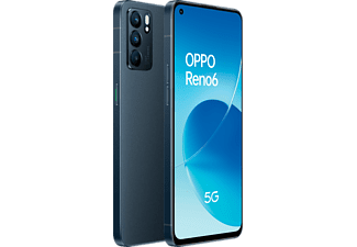 "Móvil - OPPO Reno6 5G, Stellar Black, 128 GB, 8 GB RAM, 6.44"" FHD+, MTK Next 5G-A, 4300 mAh, Android 11"