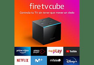 Reproductor multimedia - Amazon Fire TV Cube, Control por voz con Alexa, Ultra HD 4K, 16 GB, Negro
