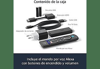 Reproductor multimedia - Amazon Fire TV Stick 2021, Mando voz Alexa, Full HD, 8 GB, HDMI, Dolby Atmos, Negro