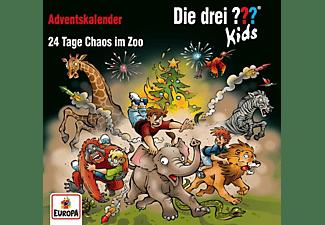 Die Drei ??? Kids - Adventskalender-24 Tage Chaos im Zoo [CD]