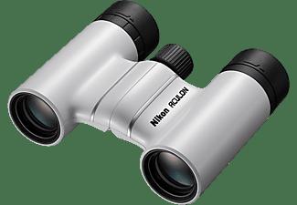 Prismáticos - Nikon Aculon T02 8x21, Zoom 8x, Revestimiento multicapa, Blanco