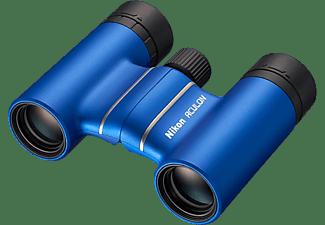 Prismáticos - Nikon Aculon T02 8x21, Zoom 8x, Revestimiento multicapa, Azul