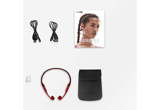 AFTERSHOKZ AEROPEX, Open-ear Headset Bluetooth Rot