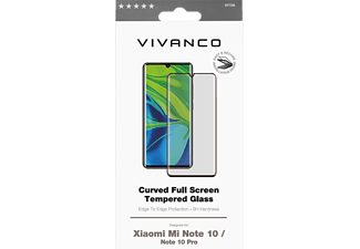 VIVANCO Displayschutzglas 3D für Xiaomi Mi Note 10 / Note 10 Pro, Full Screen