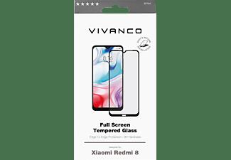 VIVANCO Displayschutzglas 2.5D für Xaomi Redmi 8, Full Screen