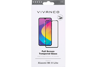VIVANCO Displayschutzglas 2.5D für Xaomi Mi 9 Lite, Full Screen