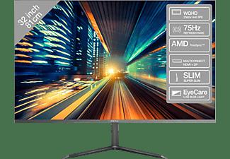 PEAQ PMO S321-IQC 32 32 Zoll WQHD Slim Monitor (5 ms Reaktionszeit, 75 Hz)