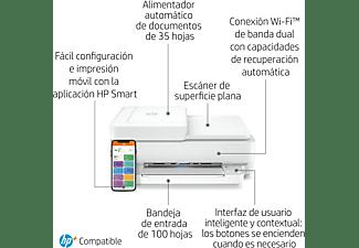Impresora multifunción - HP Envy 6430e,Color/Mono,10 ppm,Inyección, Wi-Fi,6 meses de impresión Instant Ink HP+