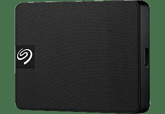 SEAGATE 500GB SSD Festplatte Expansion V2, USB-C, Extern, Schwarz