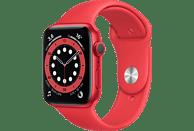 Apple Watch Series 6 (PRODUCT)RED, GPS, 44 mm, Caja de aluminio en rojo, Correa deportiva (PRODUCT)RED