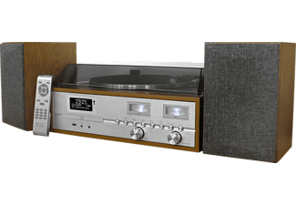 SOUNDMASTER Retro HiFi Anlage PL880 mit DAB+/UKW Radio, CD/MP3, USB, Plattenspieler u. Bluetooth