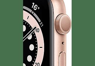Apple Watch Series 6, GPS, 44 mm, Caja de aluminio en oro, Correa deportiva rosa arena