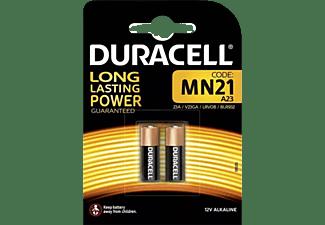 Pilas- Duracell  MN21, Alcalinas, 12 V, 2 Unidades (A23 / 23A / V23GA / LRV08), Negro