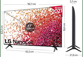 """TV LED 43"""" - LG 43NANO756PA, UHD 4K, Quad Core, NanoCell, Smart TV, HDR 10 Pro, Asistentes de voz, Negro"""