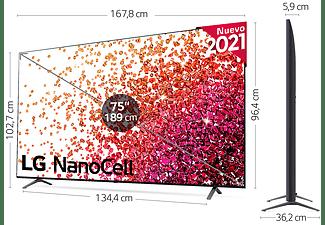"TV LED 75"" - LG 75NANO756PA, UHD 4K NanoCell, SmartTV webOS 6.0, 4k Quad Core, Azul"