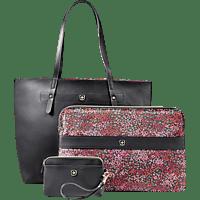"""WENGER Marie Sol Notebook Tasche 14.1"""" Notebook Tasche Umhängetasche für universal Kunstfaser / Kunstleder, Black Floral"""