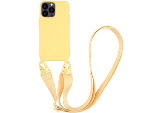 VIVANCO Necklace Cover für Apple iPhone 13 Pro, gelb