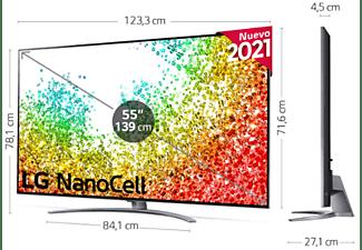 "TV LED 55"" -  LG 55NANO966PA, 8K NanoCell, SmartTV webOS 6.0, 8K α9 Gen4 AI, HDR Dolby Vision y Atmos, Plata"