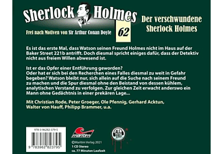 Holmes Sherlock - Folge 62-Der Verschwundene Sherlock Holmes [CD]
