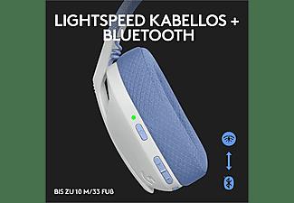LOGITECH Gaming Headset G435 Lightspeed, Bluetooth, USB-C/A, Over-Ear, Weiß