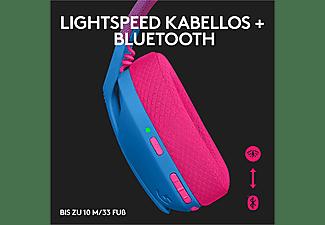 LOGITECH Gaming Headset G435 Lightspeed, Bluetooth, USB-C/A, Over-Ear, Blau