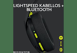 LOGITECH Gaming Headset G435 Lightspeed, Bluetooth, USB-C/A, Over-Ear, Schwarz