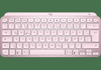 LOGITECH Tastatur MX Keys Mini, Bluetooth, Tastenbeleuchtung, QWERTZ, Rose