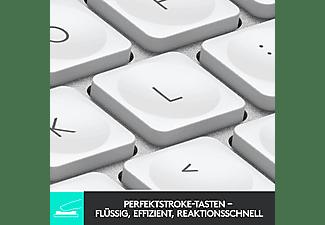 LOGITECH Tastatur MX Keys Mini, Bluetooth, Tastenbeleuchtung, QWERTZ, Pale Grey