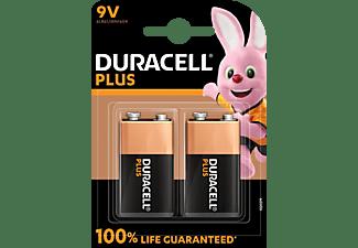 DURACELL 142268 9V Batterie, Alkaline, 9V Volt 2 Stück