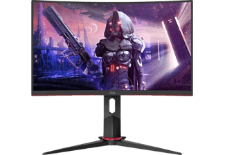 "Monitor gaming - AOC C24G2AE/BK, 24"" Full-HD,1 ms, 60 Hz, HDMI, VGA, FreeSync Premium,Blue Light, Curvo, Negro"