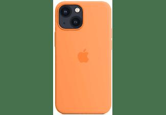 APPLE Silikon Case mit MagSafe in Gelborange für iPhone 13 mini