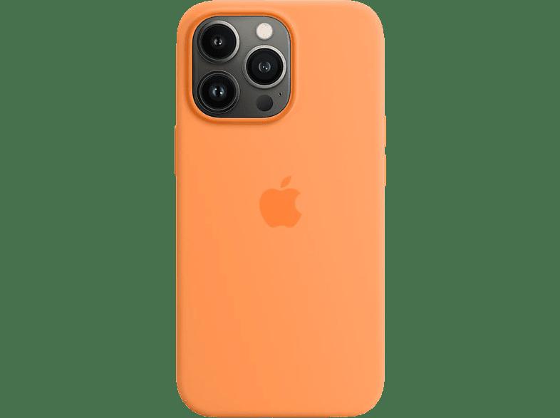 APPLE Silikon Case mit MagSafe, Backcover, Apple, iPhone 13 Pro, Gelborange
