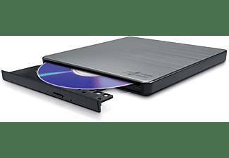 HITACHI DVD Brenner GP60 Slim Portable, Extern, TV-Anschluss, M-DISC Support, 8x Geschwindigkeit, Silber