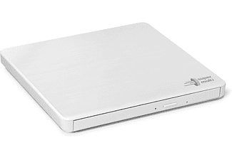 HITACHI DVD Brenner GP60 Slim Portable, Extern, TV-Anschluss, M-DISC Support, 8x Geschwindigkeit, Weiß