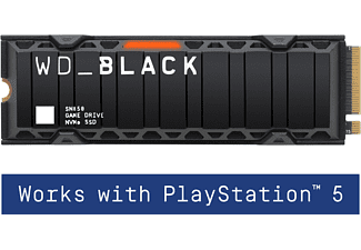WD _Black™ SN850 mit Kühlkörper - Works with PlayStation™ 5, Gaming SSD, 500 GB SSD PCI Express, intern