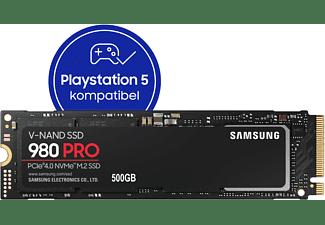 SAMSUNG 980 PRO, Playstation 5 kompatibel, Festplatte Retail, 500 GB SSD M.2 via NVMe, intern