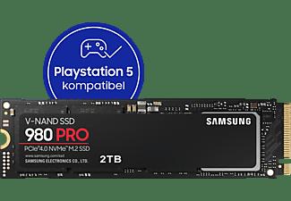 SAMSUNG 980 PRO, Playstation 5 kompatibel, Festplatte Retail, 2 TB SSD M.2 via NVMe, intern