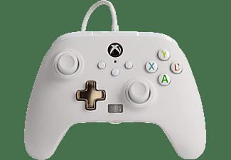 Mando - PowerA Enhanced, Para mando Xbox Series X/S, Cable, USB, Jack 3.5 mm, Blanco