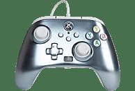 Mando - PowerA Enhanced, Para mando Xbox Series X/S, Cable, USB, Jack 3.5 mm, Gris Metálico