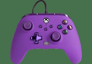 Mando - PowerA Enhanced, Para mando Xbox Series X/S, Cable, USB, Jack 3.5 mm, Morado Royal