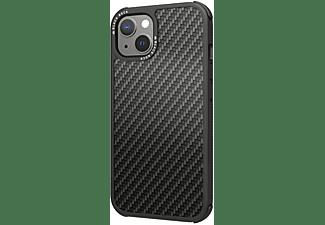 BLACK ROCK Cover Robust Real Carbon für Apple iPhone 13, Schwarz