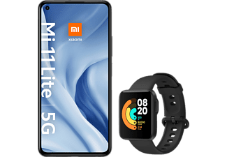 XIAOMI MI 11 LITE 5G + MI WATCH LITE (BLACK) 128 GB Truffle Black Dual SIM