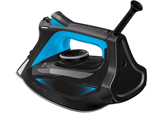 Plancha de vapor - Rowenta Focus Excel DW5310D1, 180 g/min, 150 ml, Azul metalizado y negro