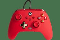 Mando - PowerA Enhanced, Para mando Xbox Series X/S, Cable, USB, Jack 3.5 mm, Rojo