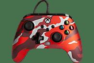 Mando - PowerA Enhanced, Para mando Xbox Series X/S, Cable, USB, Jack 3.5 mm, Rojo Camo Metálico