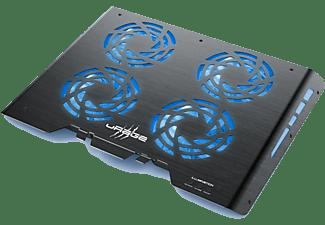 URAGE Notebook Kühler Freezer 600 Metal, 17.3 Zoll, RGB LED, Schwarz