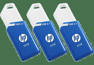 PNY 32GB USB Stick HP x755w, 3er Pack, USB-A 3.1, Blau/Weiß