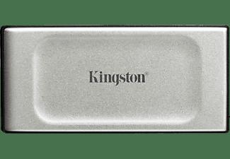 KINGSTON 2TB SSD Festplatte XS2000 Portable, USB-C 3.2, Extern, R2000/W2000, Silber/Schwarz