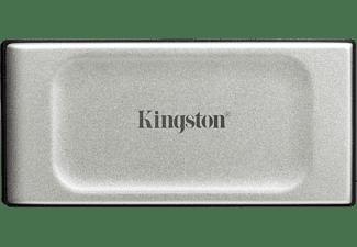 KINGSTON 500GB SSD Festplatte XS2000 Portable, USB-C 3.2, Extern, R2000/W2000, Silber/Schwarz