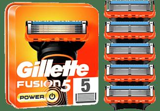 Recambio para afeitadora - Gillette Fusion5 Power, Recambio Para Máquina De Afeitar, 5 Recambios, Naranja